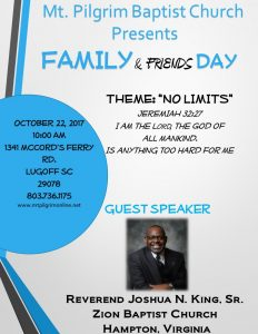 FAMILY & FRIENDS DAY-(NO LIMITS)